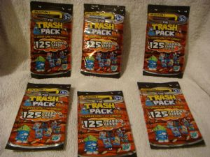 6 x packs of The Trash Pack  trading cards collection 1  the gross gang.